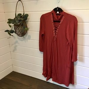 Lace up front Tunic